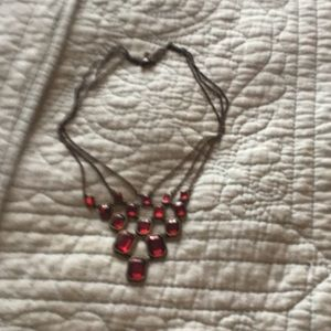 Vintage red necklace